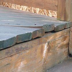 cracked split wood