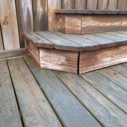 old wood step