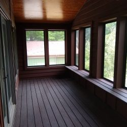 Enclosed deck area