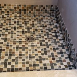 finished tile floor
