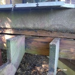 rotted stair header