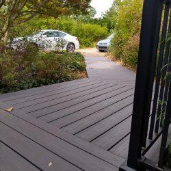 new Trex composite walkway