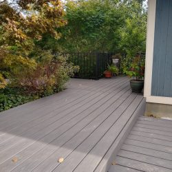 new composite Trex decking