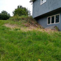 roughly graded hillside