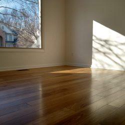 hardwood flooring and window