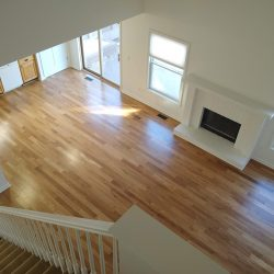 stairs, flooring, fireplace