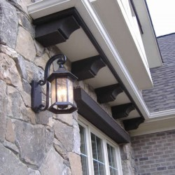 Exterior lighting brings character and beauty to this Chicago home improvement project by Home Services Direct.