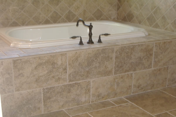 ... Contrasting Materials Line The Tub In This Chicago Bathroom Remodel By  Home Services Direct.