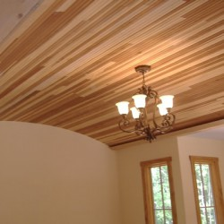 This paneled ceiling is a statement piece for this Chicago home remodeling project by Home Services Direct.
