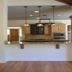 A breakfast bar is a great way to complete your Chicago home remodeling project by Home Services Direct.