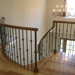 This banister is both a classic and modern touch to this Chicago home remodeling project by Home Services Direct.