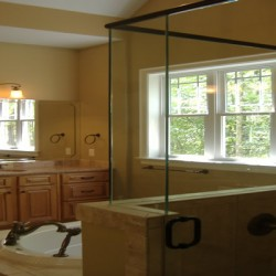 Purposeful painting brings depth to this Chicago bathroom remodeling project by Home Services Direct.