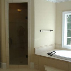 Natural light exposes the beauty of this Home Services Direct bathroom remodel in Chicago.