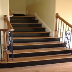 Light and dark paint provides contrast to this Chicago home improvement project by Home Services Direct.