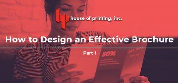 How to Design an Effective Brochure Part 1