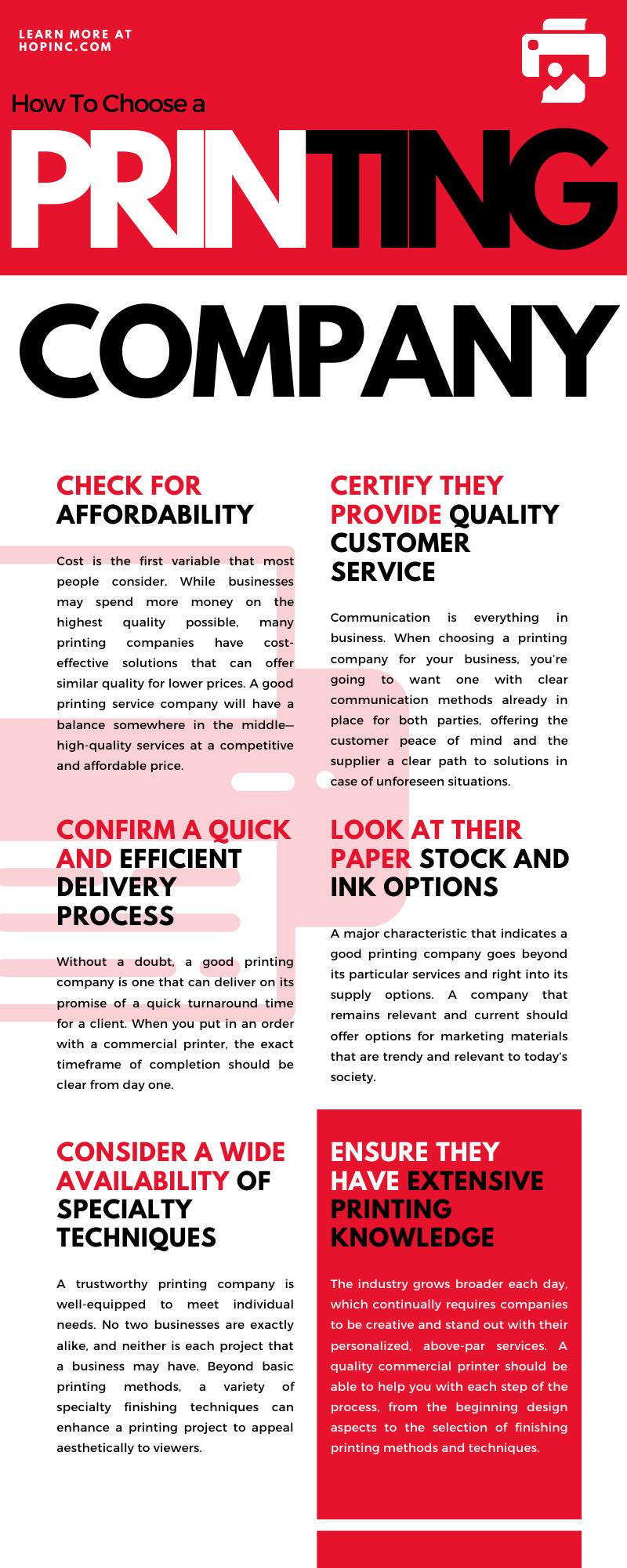 Choose a Printing Company