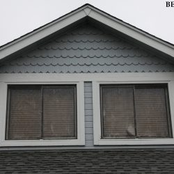 Home Gable Before Exterior Painting