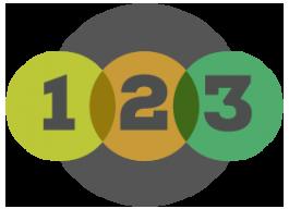 1-2-3 Step Process Icon