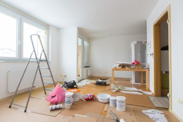 Room Renovation During Painting Stage