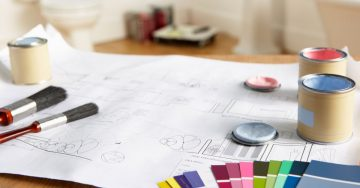 Blueprints and Paint Swatches