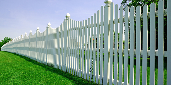 White Painted Fencing