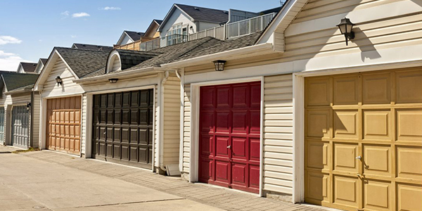 Garages With Multi-Colored Doors