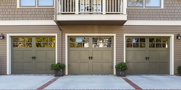 Townhome Garages With Fresh Paint