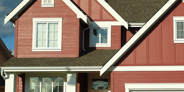 Home With Barn Red Siding