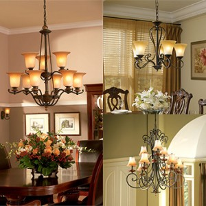 Chandeliers from Hortons Home Lighting in La Grange