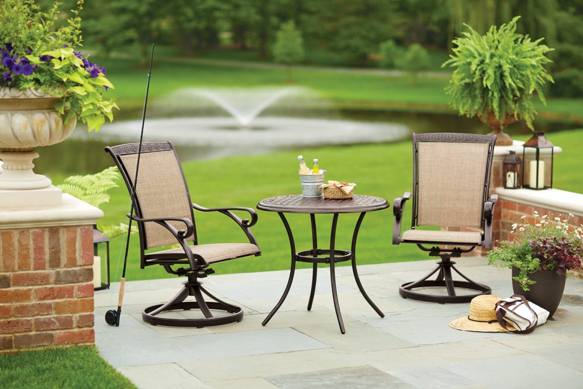 Outdoor furniture hortons home lighting for Lawn patio furniture