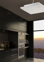 Add various light elements for dark kitchen hardware