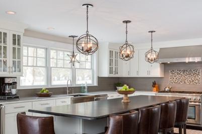 Pendant lighting in the kitchen