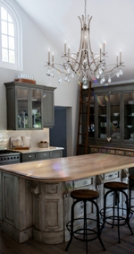 Use chandeliers in kitchen dining room