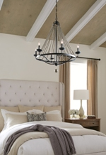 LED Ceiling light fixture in bedroom
