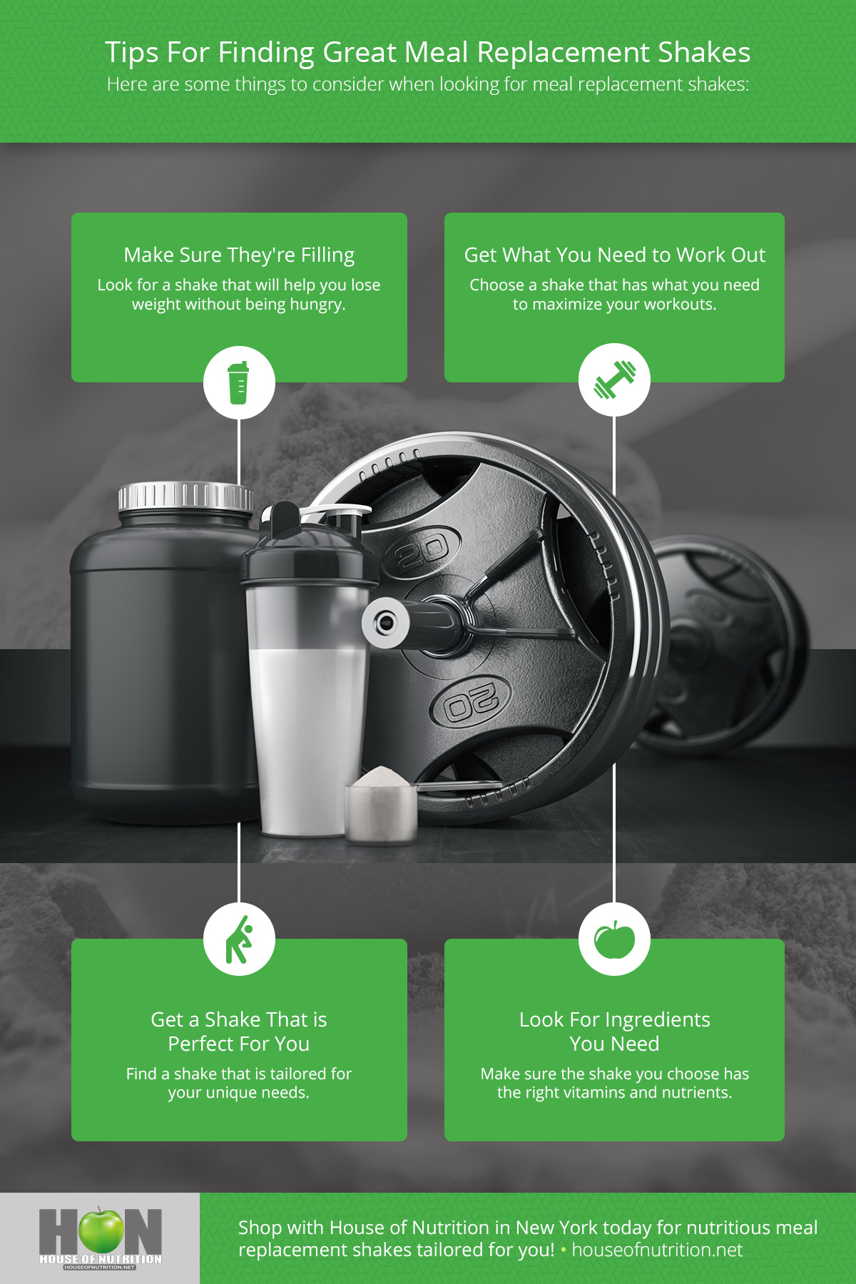 Tips For Finding Great Meal Replacement Shakes Infographic