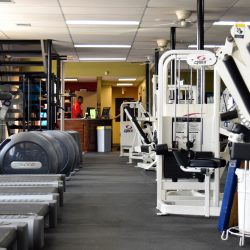 Our gym features world-class equipment.