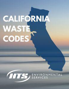 California hazardous waste codes
