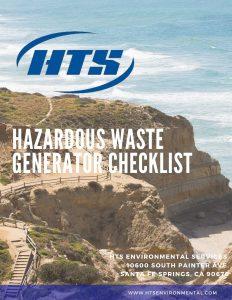 california hazardous waste generator