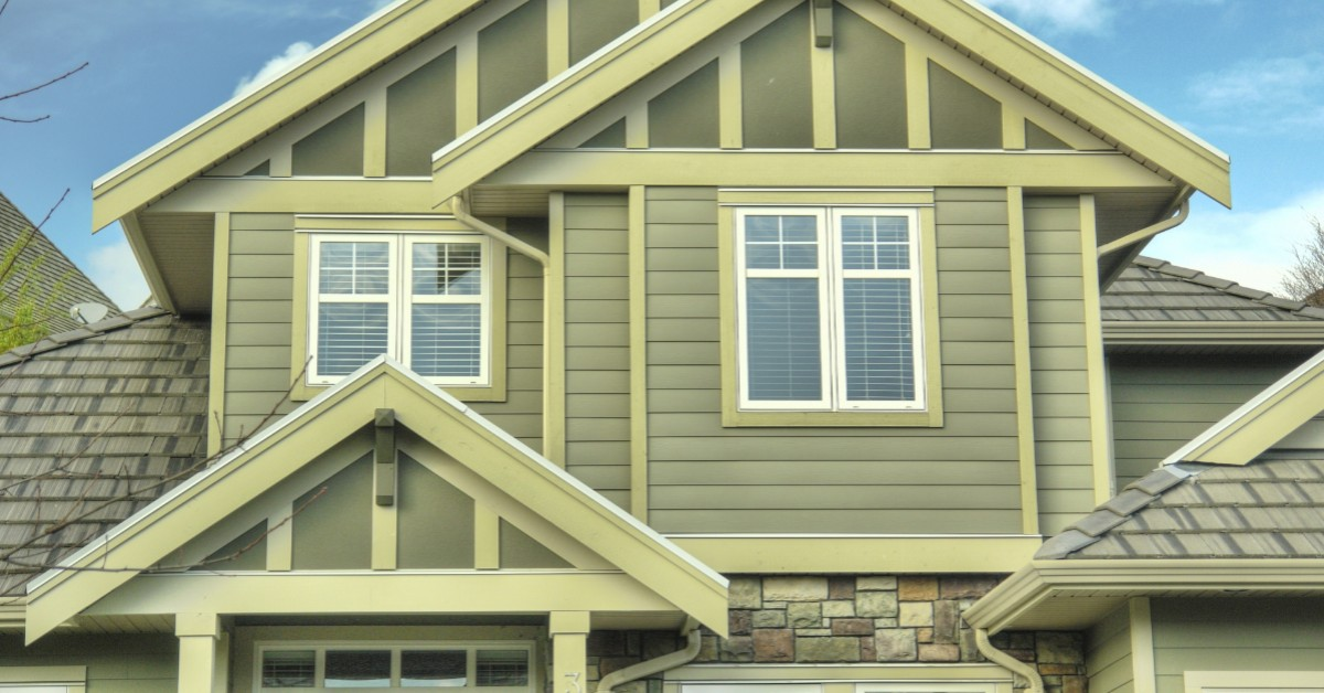 a house with vinyl siding