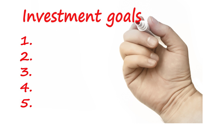 List of investment goals.