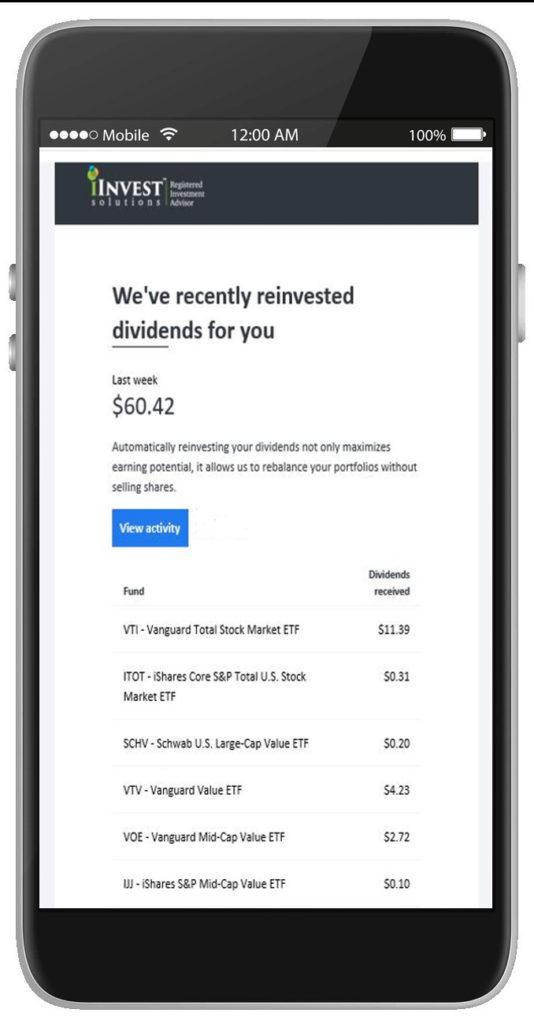 Mobile Investment Rebalancing