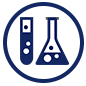 Indy STEAM Academy test tube and beaker icon
