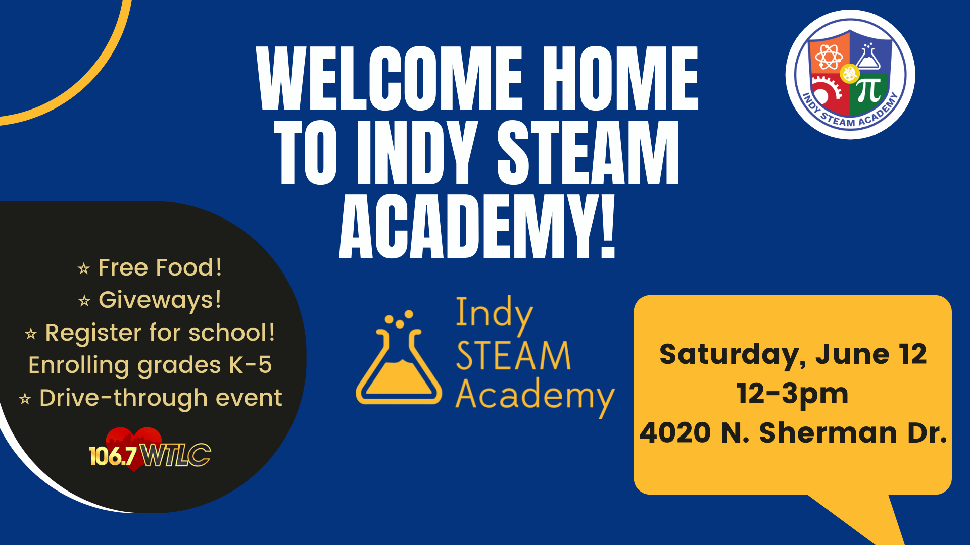 welcome home to Indy STEAM drive-through event