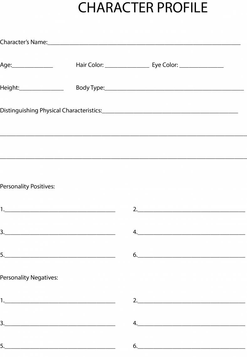 worksheet Character Building Worksheets character profiles can save you and your story some serious headaches its actually one of the worksheets i always give out to my novel writing students at community college baltimore county