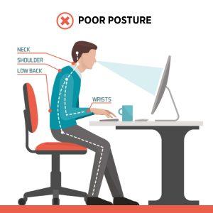 poor posture ergonomics desk