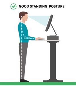 standing desk good ergonomic posture