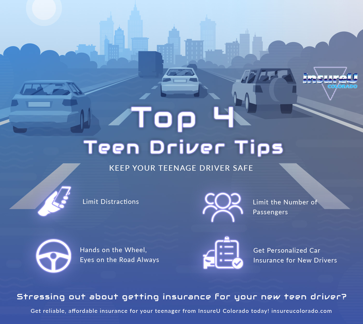Top 4 Teen Driver Tips Infographic