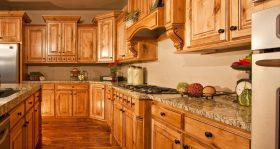 Home Kitchen With Tan Walls