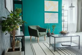 Aquamarine Interior Wall Color
