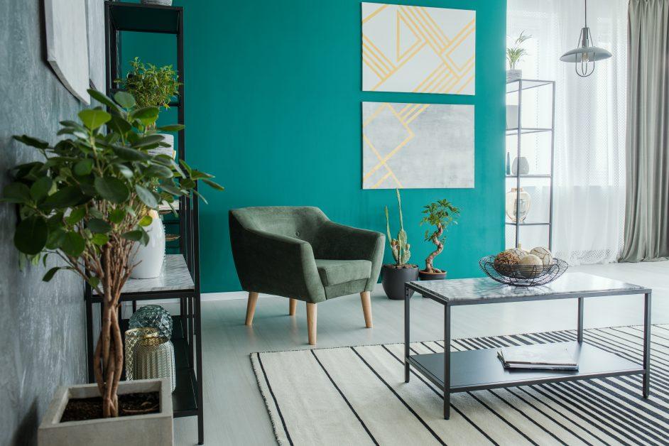 Aquamarine Interior Wall Color